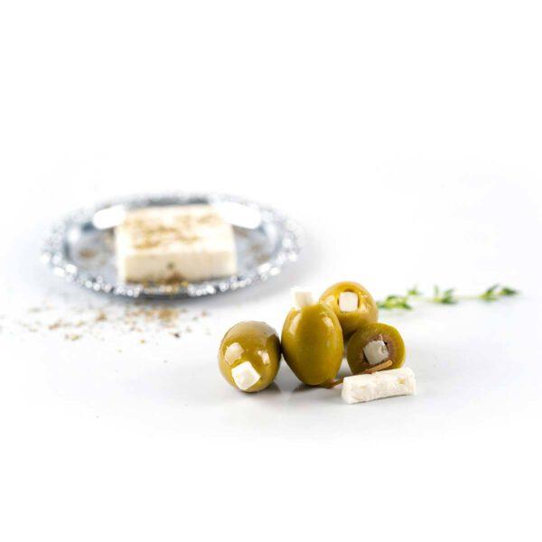 Греческие оливки халкидики фаршированные сыром фета