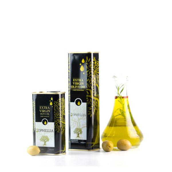 "Оливковое масло первого холодного отжима тм ""Ophellia"" tin 250 мл и 500 мл"