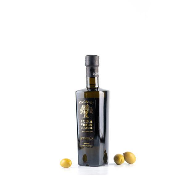 "Оливковое масло экстра вирджин тм ""Ophellia"" стеклянная бутылка 500 мл"